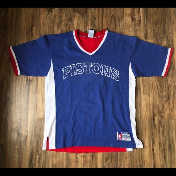 d15fc787 ... pistons warm up shirt Champion Shirts | Detroit Pistons Vintage ...